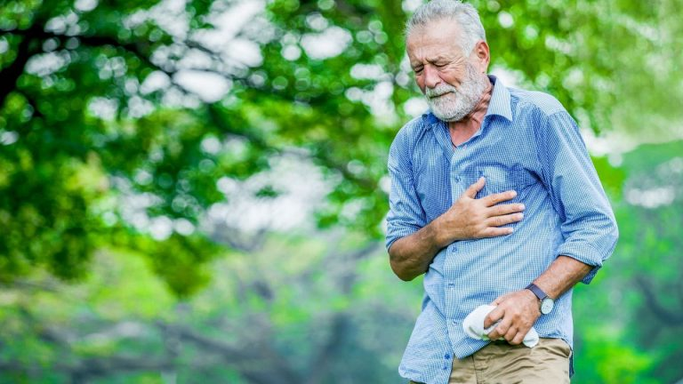 Chest pain on exertion