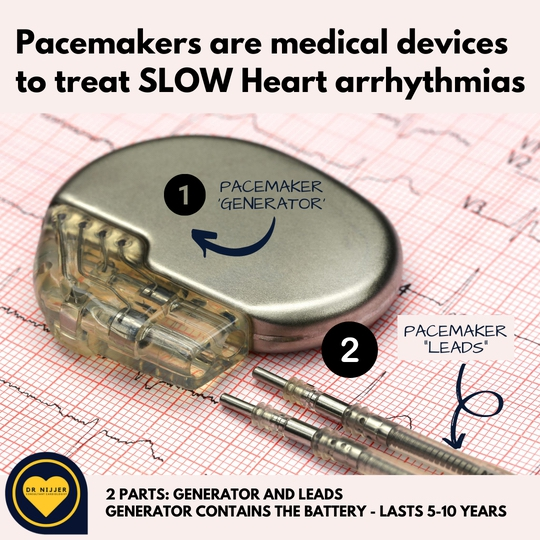 Dr Nijjer, Consultant Cardiologist, implants Pacemakers