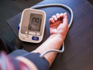 High blood pressure is a cause of heart disease